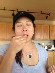 tasting shrimp